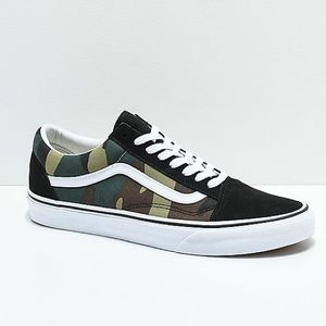 Vans Old Skool Woodland Camo & Black